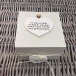 Shabby Personalised Chic Auntie Aunty Great Aunt Gift Trinket Box Jewellery Box - 253191061804